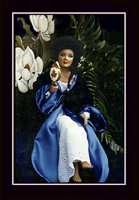Click here to view closeup of African American Doll, Gabrielle, A New Orleans Quadroon Doll