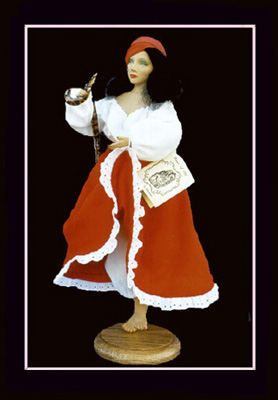 Click here to view close-up of the African American Doll, The Marie Laveau Doll dancing with snake